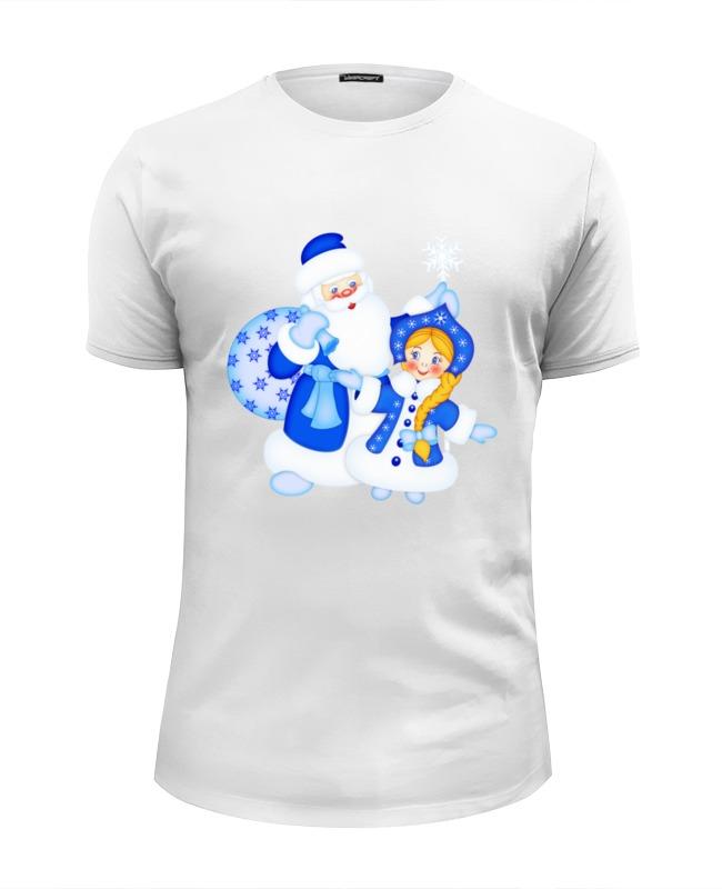 Футболка Wearcraft Premium Slim Fit Printio Дед мороз и снегурочка костюм снегурочки конфетки 40 44