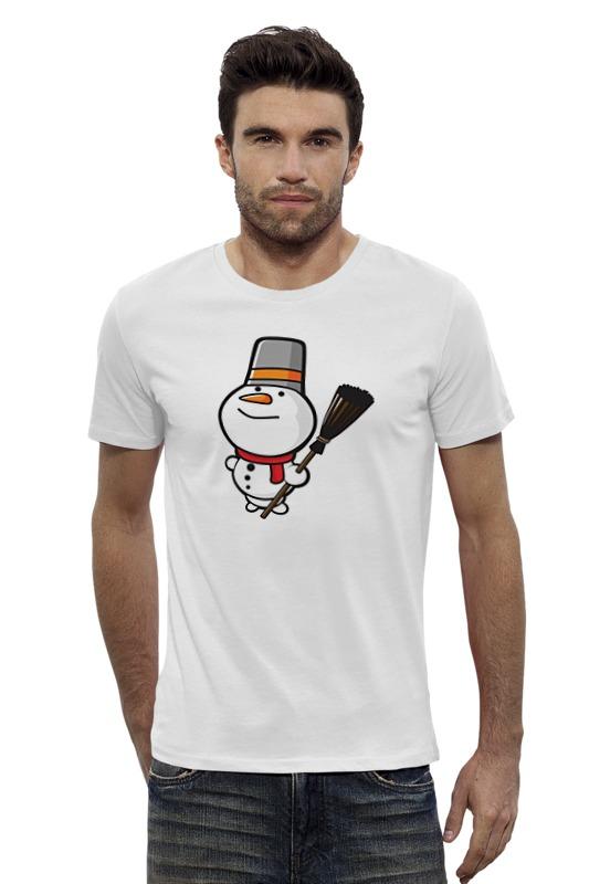 Футболка Wearcraft Premium Slim Fit Printio Снеговик с метлой футболка wearcraft premium slim fit printio снеговик