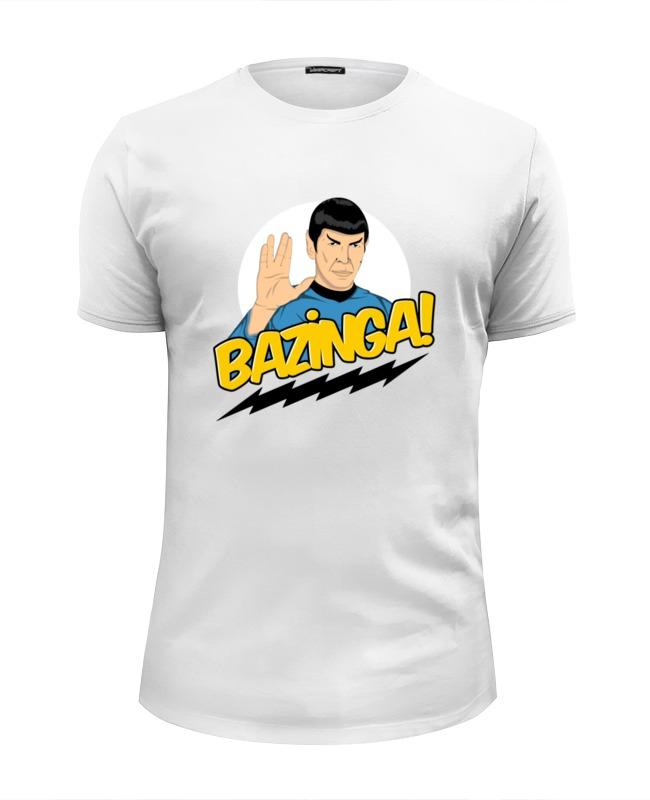 Футболка Wearcraft Premium Slim Fit Printio Bazinga футболка wearcraft premium slim fit printio sheldon bazinga
