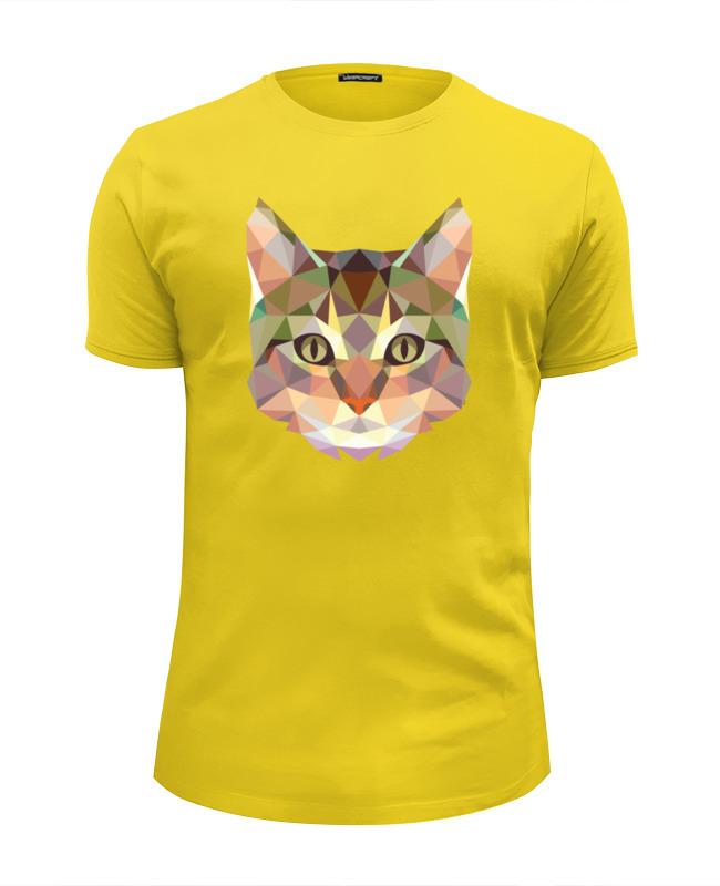 Футболка Wearcraft Premium Slim Fit Printio Полигональный кот футболка wearcraft premium slim fit printio кот суши