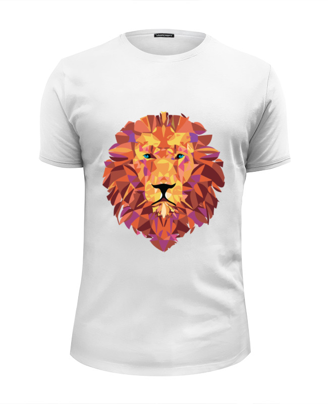 Футболка Wearcraft Premium Slim Fit Printio Лев (lion) футболка wearcraft premium printio lion
