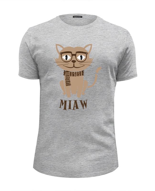 Футболка Wearcraft Premium Slim Fit Printio Умный кот футболка wearcraft premium slim fit printio усатый кот