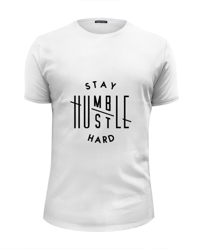 Футболка Wearcraft Premium Slim Fit Printio Hustle hard футболка wearcraft premium printio i work hard