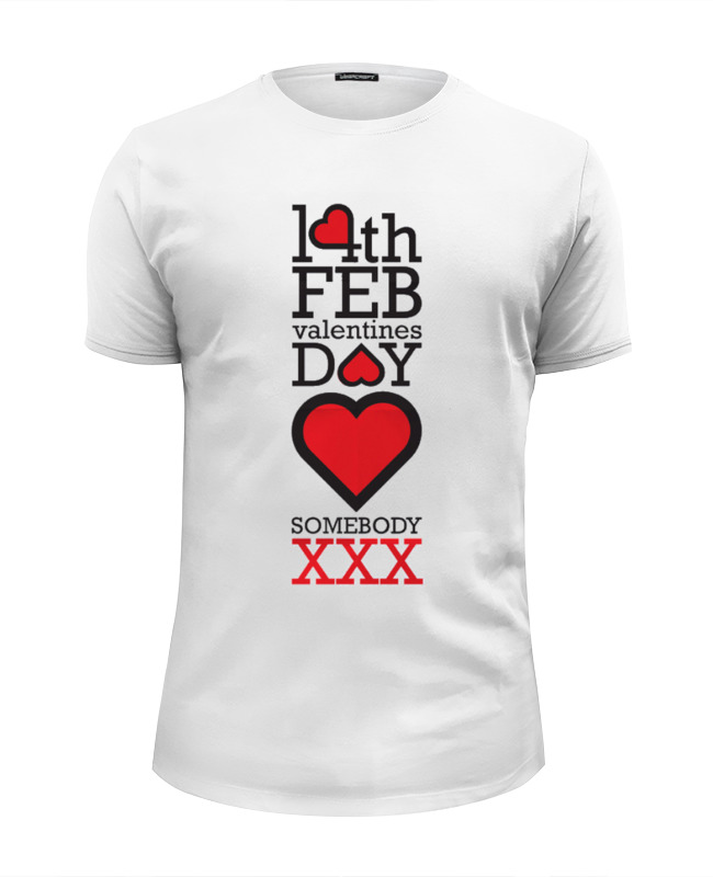 Футболка Wearcraft Premium Slim Fit Printio Happy valentines day