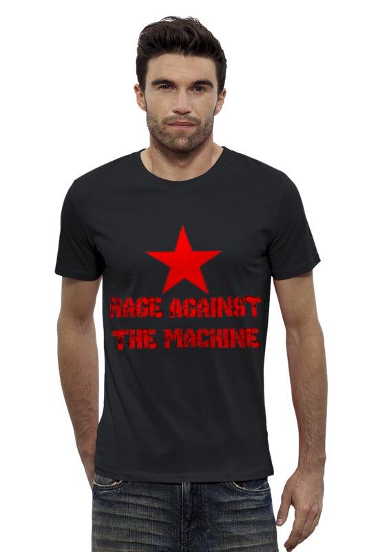 Футболка Wearcraft Premium Slim Fit Printio Rage against  the mashine ноутбук against the world 14