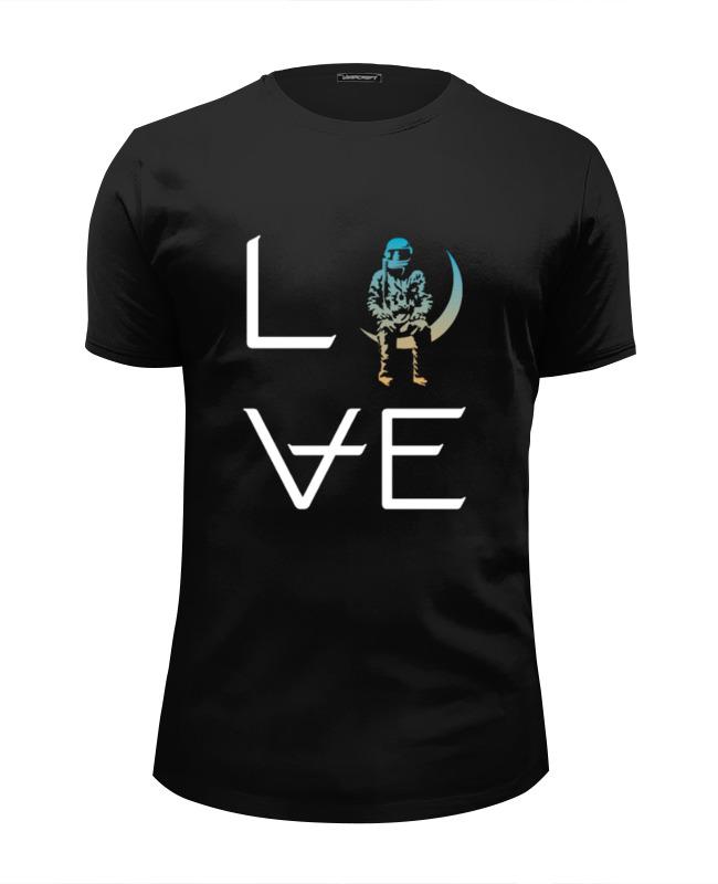 Футболка Wearcraft Premium Slim Fit Printio Love stacked black/sunset