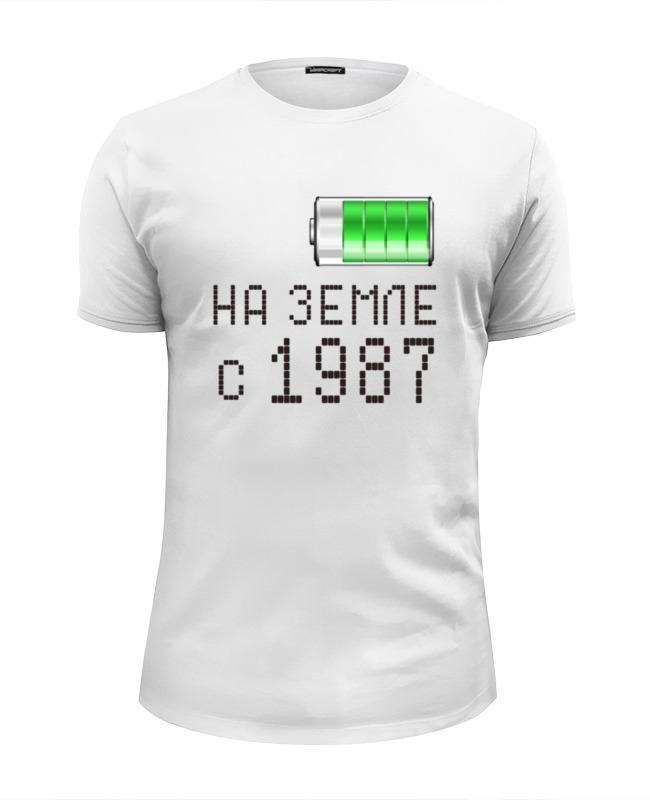 Футболка Wearcraft Premium Slim Fit Printio На земле с 1987 футболка wearcraft premium printio на земле с 1968