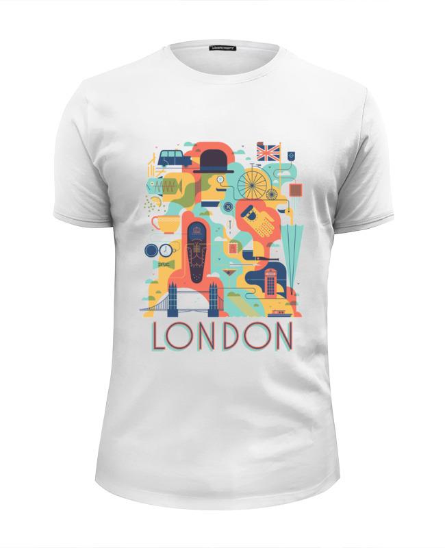 Футболка Wearcraft Premium Slim Fit Printio Лондон анна нетребко лондон
