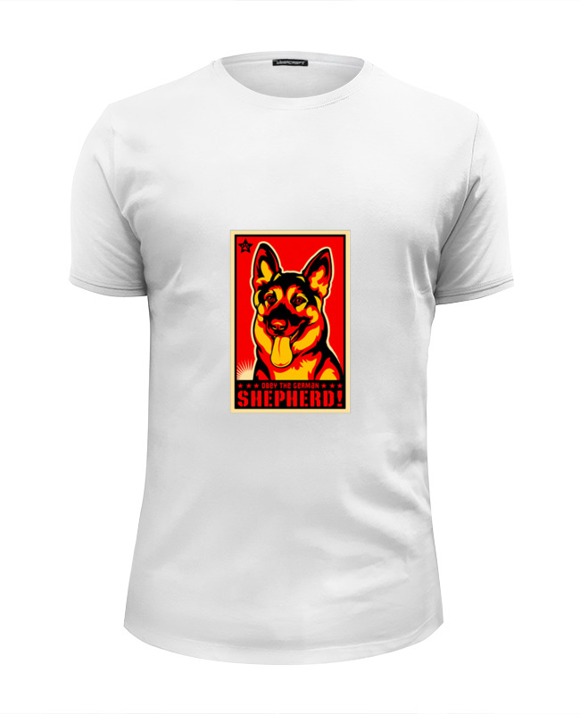 Футболка Wearcraft Premium Slim Fit Printio Собака: german shepherd