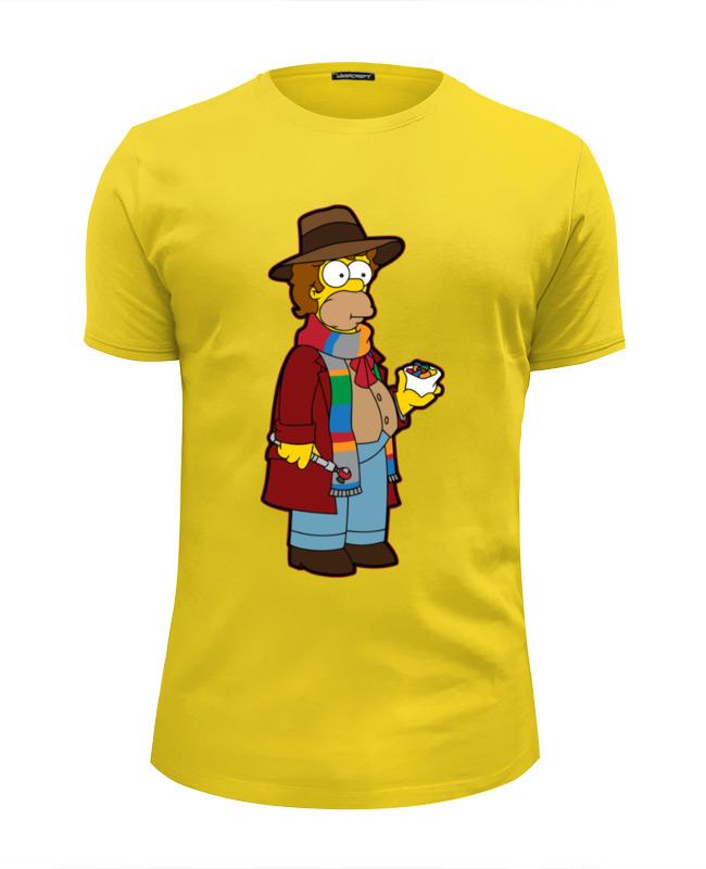 Футболка Wearcraft Premium Slim Fit Printio Гомер симпсон (доктор кто) футболка wearcraft premium slim fit printio гомер симпсон я в форме