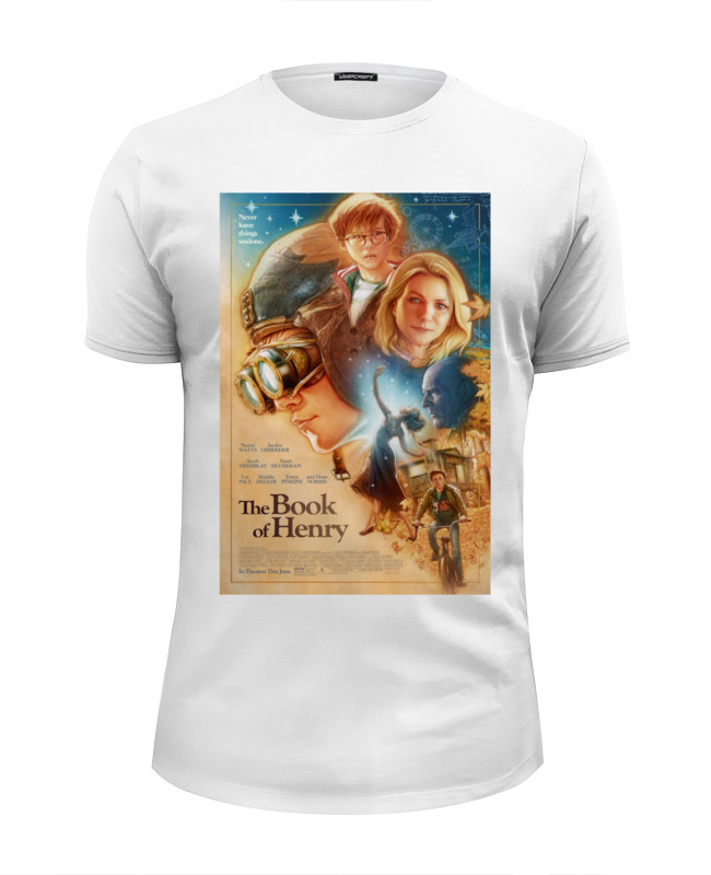 Футболка Wearcraft Premium Slim Fit Printio Книга генри / the book of henry