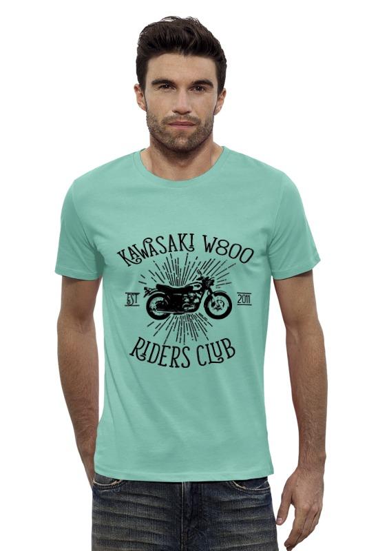 Футболка Wearcraft Premium Slim Fit Printio Kawasaki w800 riders club футболка rude riders футболка