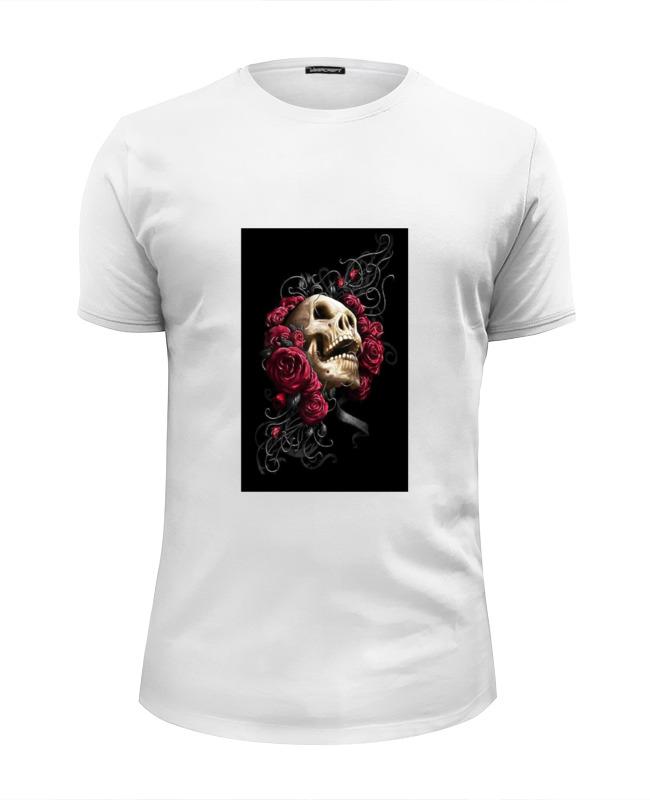 Футболка Wearcraft Premium Slim Fit Printio Череп в розах футболка wearcraft premium slim fit printio череп в розах