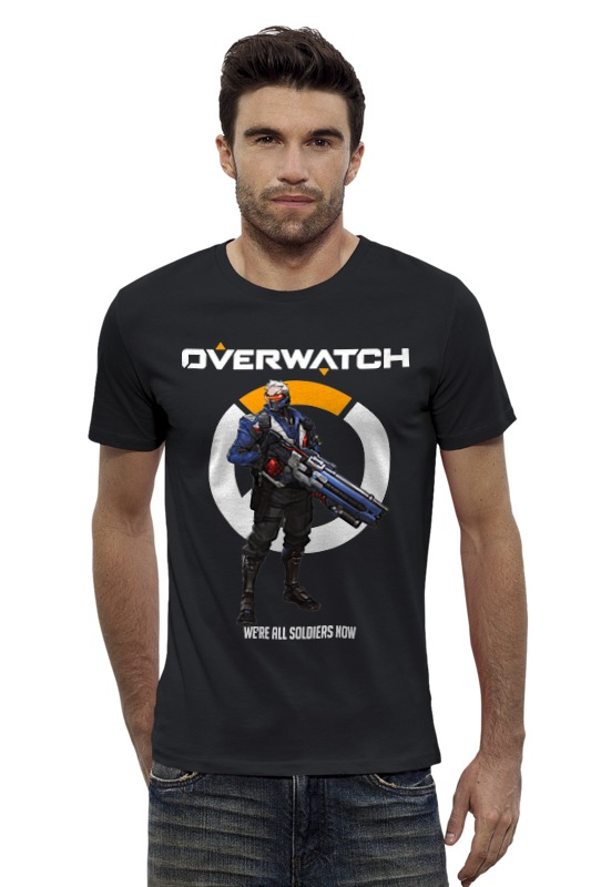 Футболка Wearcraft Premium Slim Fit Printio Overwatch. солдат 76 футболка wearcraft premium printio неизвестный солдат