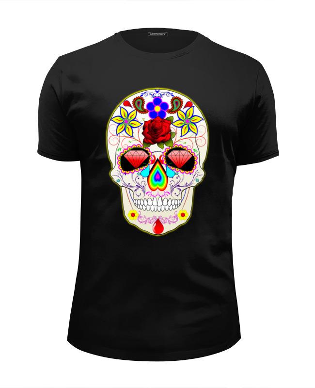 Футболка Wearcraft Premium Slim Fit Printio Skull art футболка wearcraft premium slim fit printio low poly skull