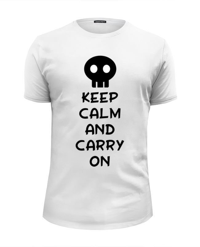 Футболка Wearcraft Premium Slim Fit Printio Keep calm and carry on толстовка wearcraft premium унисекс printio keep calm and carry on