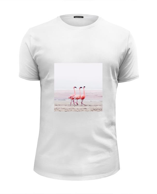 Футболка Wearcraft Premium Slim Fit Printio Розовые фламинго футболка wearcraft premium printio фламинго