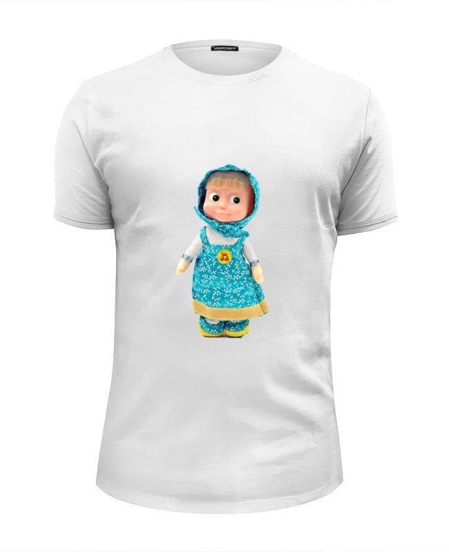 Футболка Wearcraft Premium Slim Fit Printio Кукла маша из мульта. смешная озорная. . футболка wearcraft premium printio кукла девочка маша из мульта смешная озорная