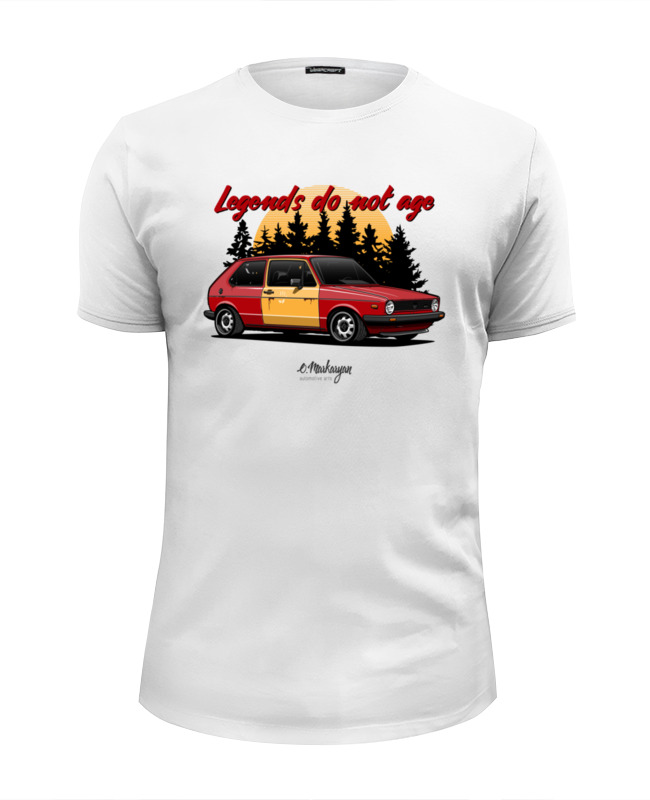 Футболка Wearcraft Premium Slim Fit Printio Golf gti mk1