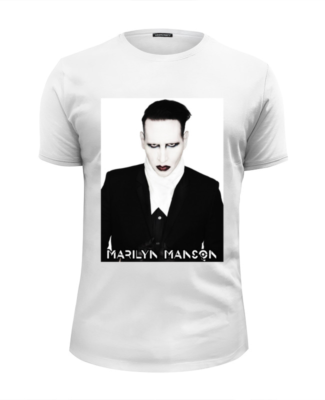 Футболка Wearcraft Premium Slim Fit Printio Marilyn manson толстовка wearcraft premium унисекс printio marilyn manson