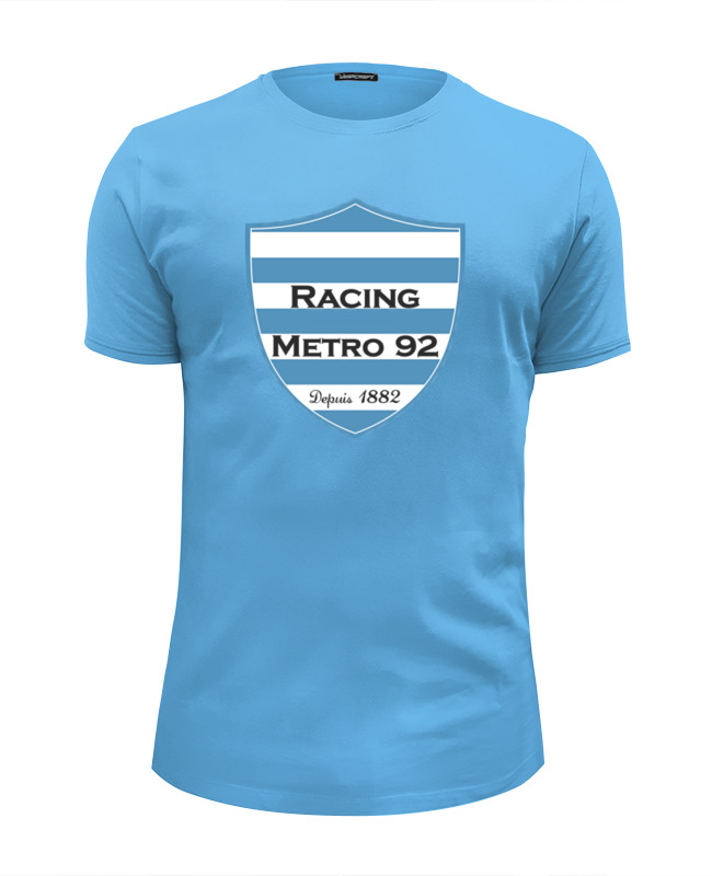 все цены на Футболка Wearcraft Premium Slim Fit Printio Racing métro 92 rugby