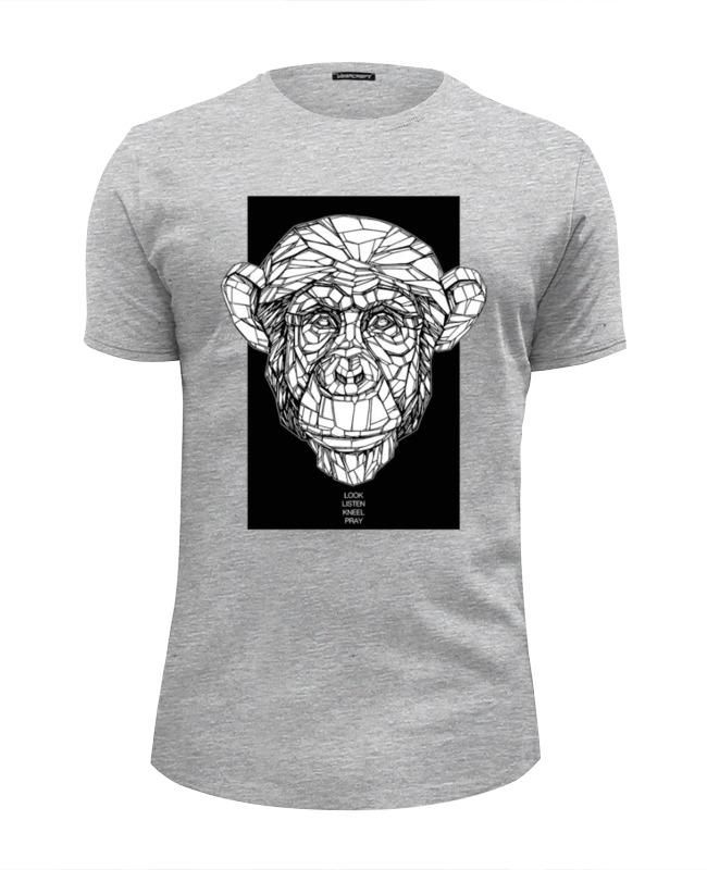 Футболка Wearcraft Premium Slim Fit Printio Monkey футболка wearcraft premium printio hamlet monkey