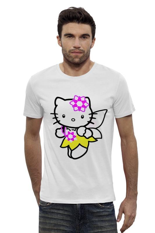 Футболка Wearcraft Premium Slim Fit Printio Кот кошка. hello kitty.любимый герой мульт. футболка wearcraft premium slim fit printio кот кошка hello kitty любимый герой мульт