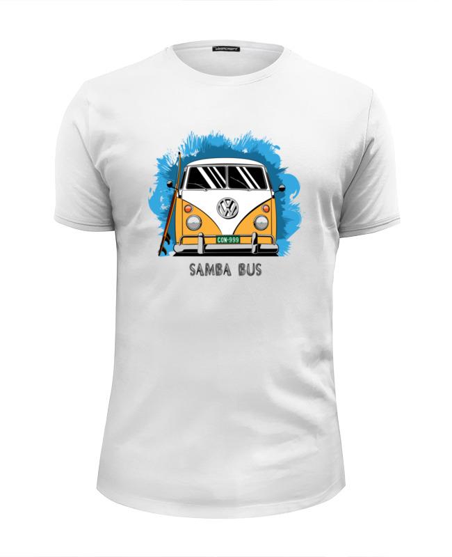 Футболка Wearcraft Premium Slim Fit Printio Samba bus футболка рингер printio samba bus