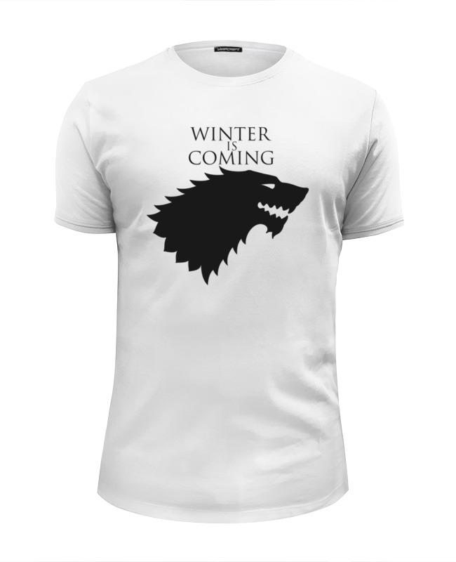 Футболка Wearcraft Premium Slim Fit Printio Winter is coming