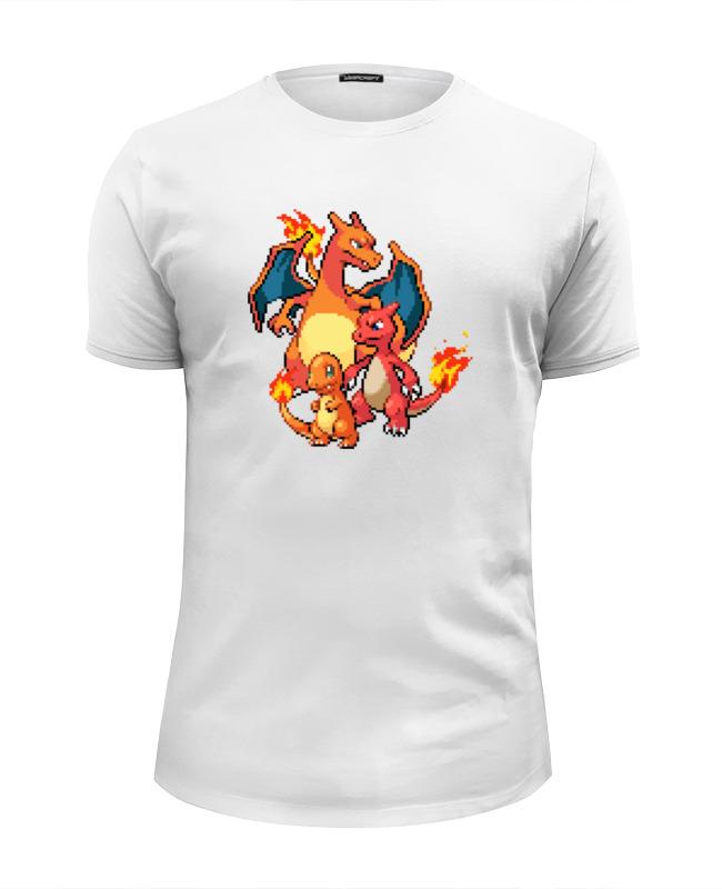 Футболка Wearcraft Premium Slim Fit Printio Покемоны 8-бит (драконы) футболка wearcraft premium slim fit printio драконы