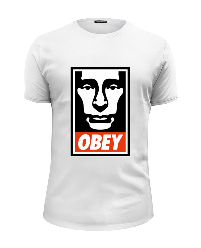 Футболка Wearcraft Premium Slim Fit Printio Putin obey майка классическая printio chicago bulls marilyn monroe
