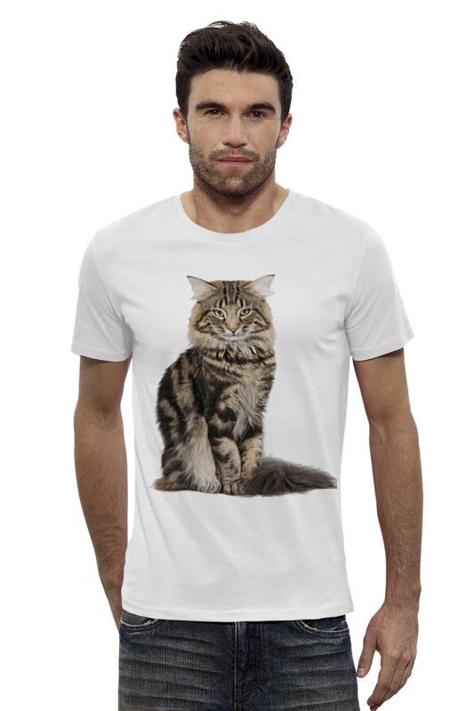 Футболка Wearcraft Premium Slim Fit Printio Милый пушистый кот футболка wearcraft premium printio милый кит