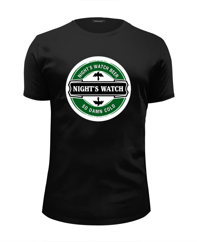 Футболка Wearcraft Premium Slim Fit Printio Nights watch beer футболка wearcraft premium printio time to drink beer