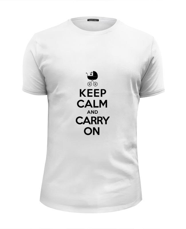 Футболка Wearcraft Premium Slim Fit Printio Keep calm & carry on футболка wearcraft premium slim fit printio keep calm and carry on