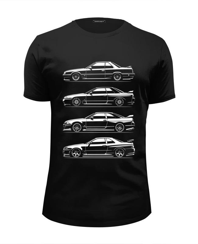Футболка Wearcraft Premium Slim Fit Printio Nissan skyline generation