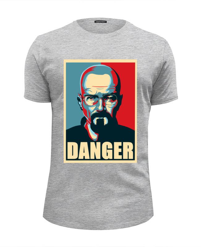 Футболка Wearcraft Premium Slim Fit Printio Danger (breaking bad) футболка классическая printio danger breaking bad
