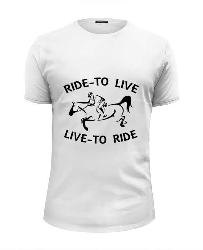 Футболка Wearcraft Premium Slim Fit Printio Ride to live сумка printio ride to live