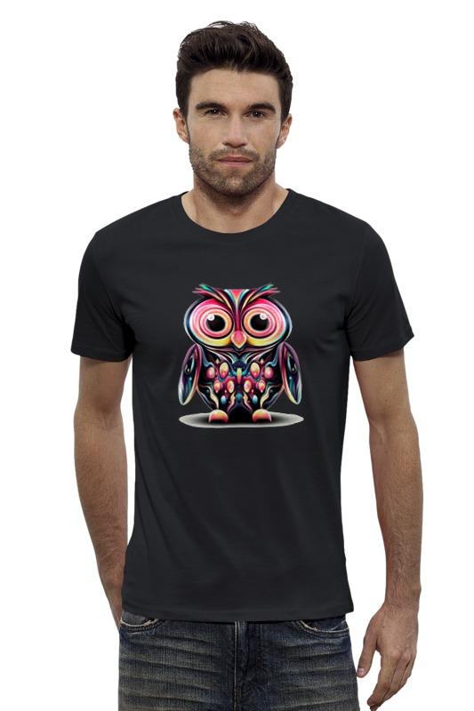 Футболка Wearcraft Premium Slim Fit Printio Арт сова футболка wearcraft premium slim fit printio ночная сова