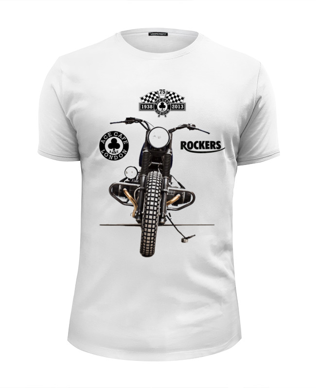 Футболка Wearcraft Premium Slim Fit Printio Ace cafe rockers футболка wearcraft premium slim fit printio ace of spades
