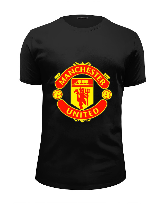Футболка Wearcraft Premium Slim Fit Printio Manchester united hardy caprio manchester