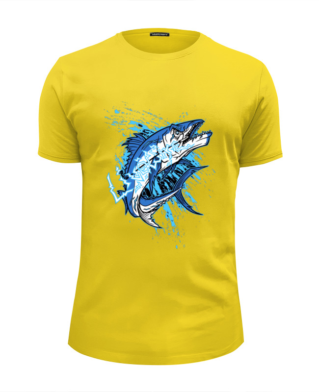 Футболка Wearcraft Premium Slim Fit Printio Акула футболка wearcraft premium slim fit printio акула shark