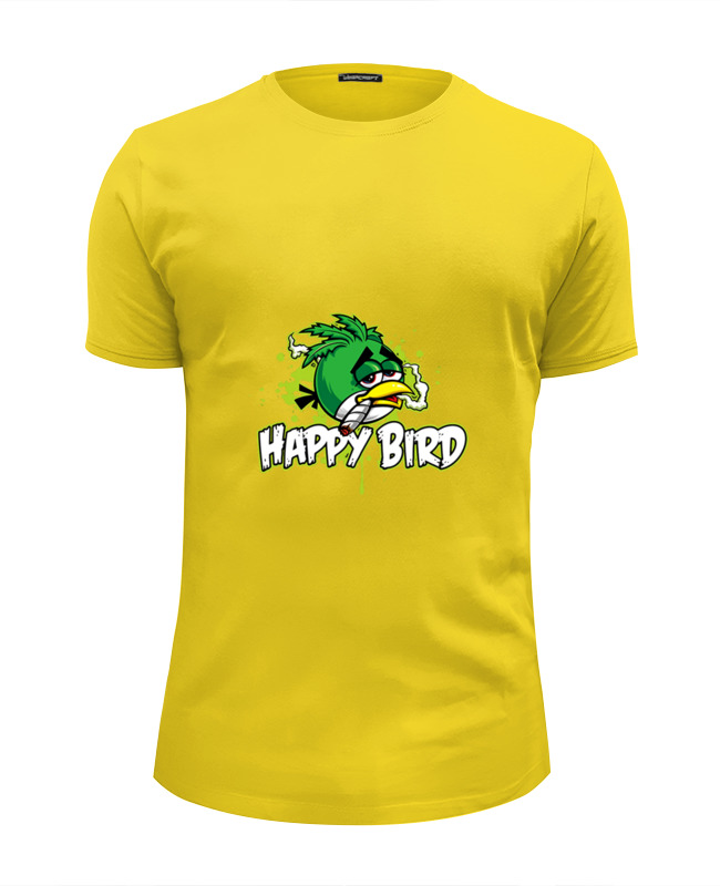 Футболка Wearcraft Premium Slim Fit Printio Happy bird футболка wearcraft premium slim fit printio bird
