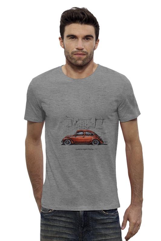 maisto радиоуправляемая модель volkswagen beetle цвет желтый Футболка Wearcraft Premium Slim Fit Printio Volkswagen beetle