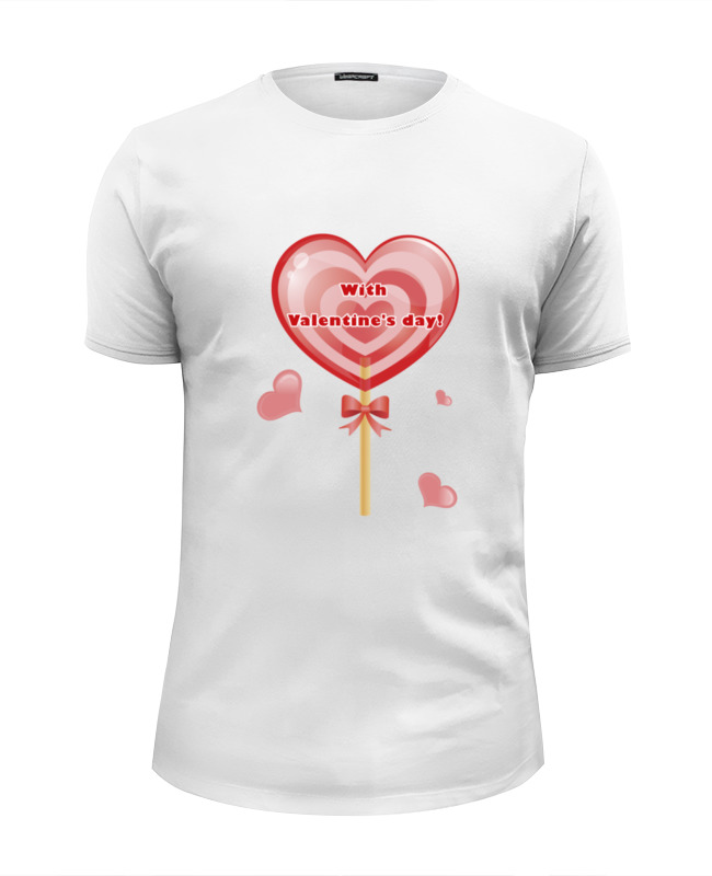 Футболка Wearcraft Premium Slim Fit Printio happy valentine's day!