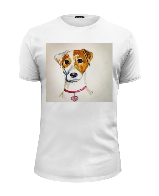 Футболка Wearcraft Premium Slim Fit Printio Jack russell цена