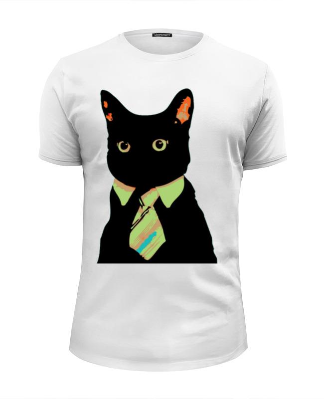 Футболка Wearcraft Premium Slim Fit Printio Деловой кот