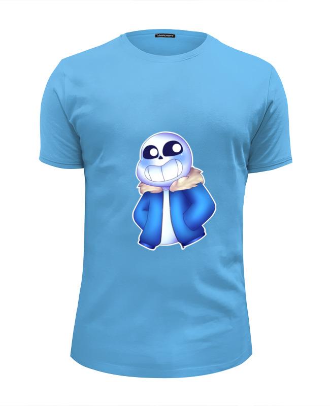 Футболка Wearcraft Premium Slim Fit Printio Санс из undertale. футболка wearcraft premium slim fit printio папирус и санс undertale