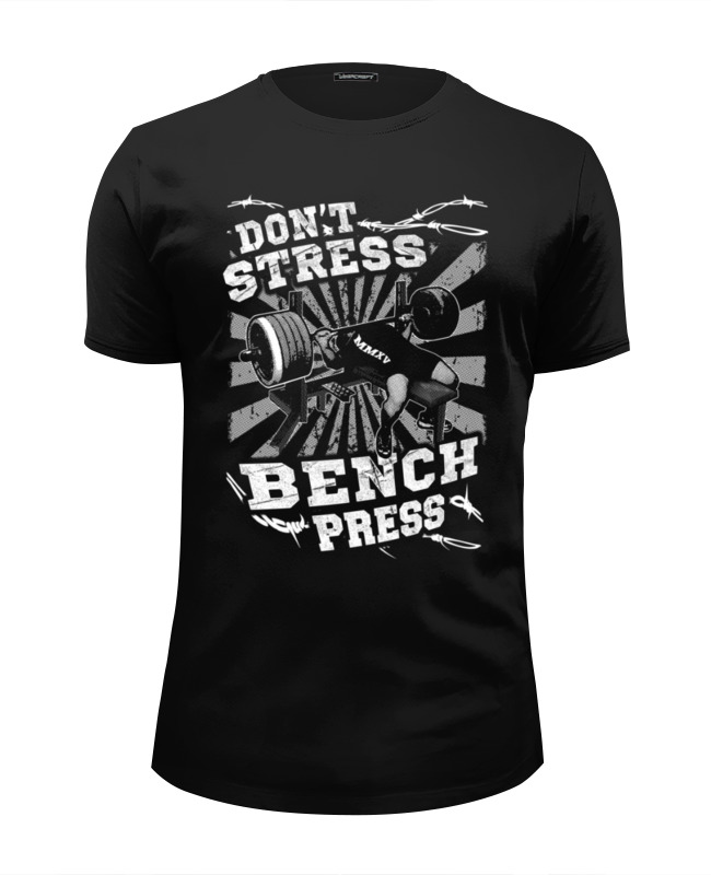 Футболка Wearcraft Premium Slim Fit Printio Bench press майка классическая printio bench press