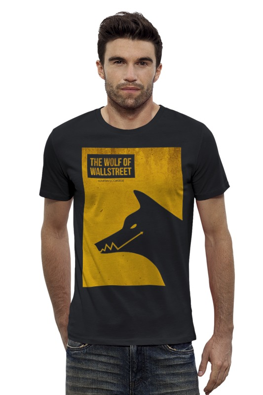 Футболка Wearcraft Premium Slim Fit Printio The wolf of wall street dog the sea wolf