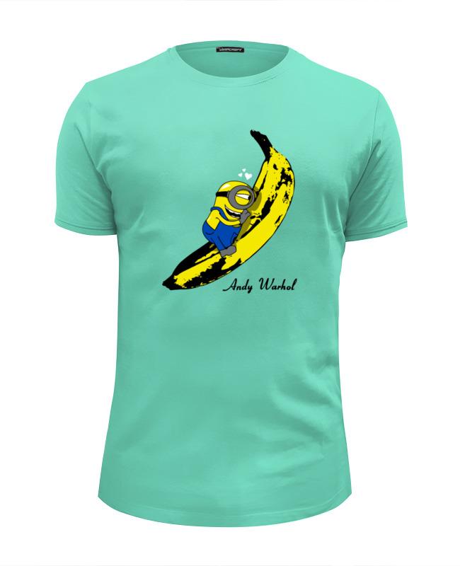 Футболка Wearcraft Premium Slim Fit Printio Миньон с бананом (энди уорхол) футболка wearcraft premium slim fit printio миньон кунг фьюри